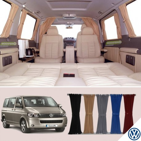 Vw Transporter T4 Kombi Van Curtain Kit 3 Windows