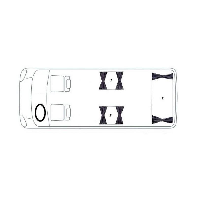 vw transporter t4 caravelle    eurovan    multivan curtain kit